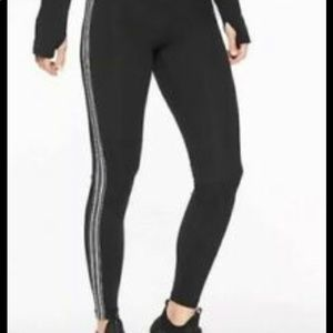 Athleta NEW Track Tux Side Stripe Pants SZ MT